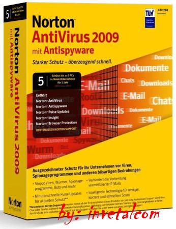 В новой 2009 версии Norton AntiVirus заметно повышена скорость во время раб